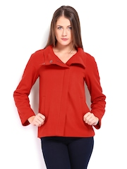 United Colors of Benetton Women Red Wool Blend Jacket