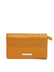 United Colors of Benetton Women Mustard Yellow Leather Wallet