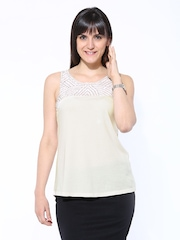 United Colors of Benetton Women Off-White Top