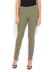 United Colors of Benetton Women Olive Green Treggings