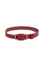 United Colors of Benetton Women Red Leather Belt