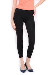 United Colors of Benetton Women Black Nylon Stretch Leggings