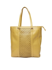 United Colors of Benetton Women Yellow Tote Bag