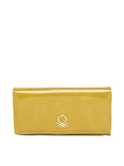 United Colors of Benetton Women Yellow Wallet