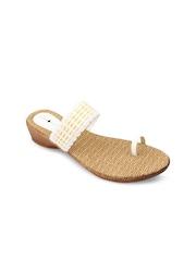 Urban Woods Women White Sandals