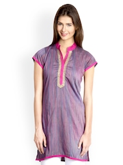 VANI Women Purple Printed Kurti
