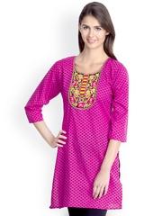 VANI Women Pink Printed Kurti