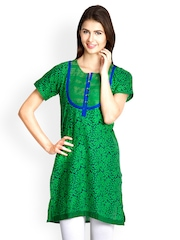 VANI Women Green Printed Kurti