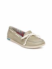 VAPH Women Brown Skyler Leather Boat Shoes