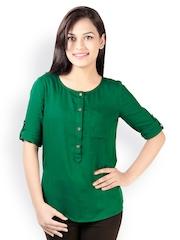 Vaak Women Green Top