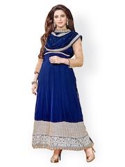 Vaamsi Blue Unstitched Dress Material
