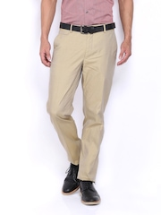 Van Heusen Men Beige Slim Fit Formal Trousers
