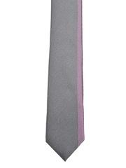 Van Heusen Grey & Purple Microfibre Tie