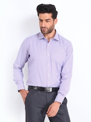 Van Heusen Lavender Coloured & White Contemporary Fit Formal Shirt