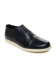 Van Heusen Men Dark Blue Leather Casual Shoes