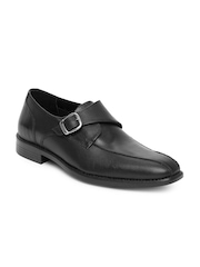 Van Heusen Men Black Leather Semi-Formal Shoes