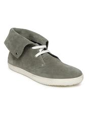 Van Heusen Men Grey Suede Casual Shoes