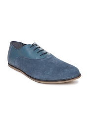 Van Heusen Men Blue Suede Casual Shoes