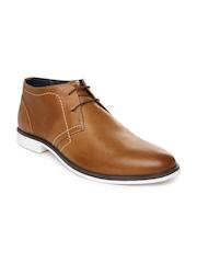 Van Heusen Men Brown Leather Casual Shoes