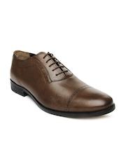 Van Heusen Men Brown Leather Semiformal Shoes