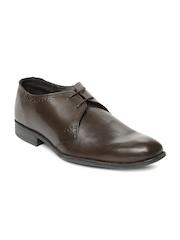 Van Heusen Men Brown Leather Formal Shoes
