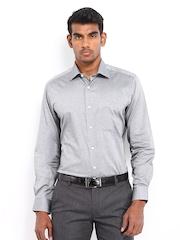Van Heusen Men Grey Custom Fit Formal Shirt