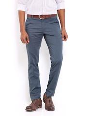 Van Heusen Men Grey Ultra Slim Fit Formal Trousers