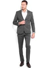 Van Heusen Men Grey Woollen Slim Fit Single-Breasted Suit