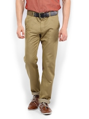 Van Heusen Men Khaki Slim Fit Trousers