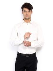 Van Heusen Men Off-White Custom Fit Formal Shirt