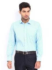 Van Heusen Men Blue & White Striped Classic Fit Formal Shirt