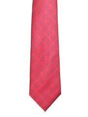 Van Heusen Red Checked Silk Tie