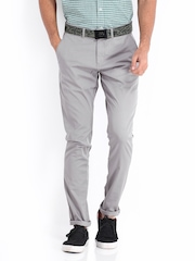 Van Heusen Sport Men Grey Tapered Fit Chino Trousers