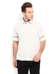 Van Heusen Sport Men White Slim Fit Casual Shirt