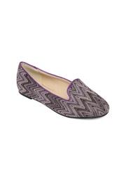 Van Heusen Women Purple Printed Flat Shoes