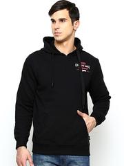Vans Men Black Hooded Sweatshirt