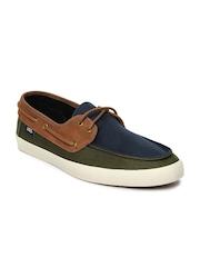 Vans Men Green & Navy Boat Shoes