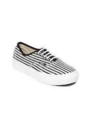 Vans Unisex Black & White Striped Casual Shoes