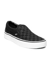 Vans Unisex Black & Grey Checked Casual Shoes