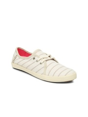 Vans Women Off-White Striped Tazie Casual Shoes