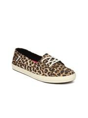 Vans Women Brown & Black Animal Printed Casual Shoes
