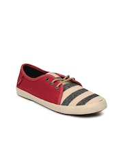 Vans Women Red & Beige Tazie Casual Shoes