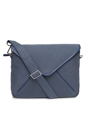 Vaunt Men Navy Blue Email Messenger Bag