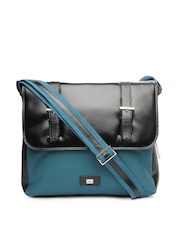 Vaunt Men Black & Blue Messenger Bag