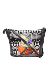 Vaz Black Printed Shoulder Bag