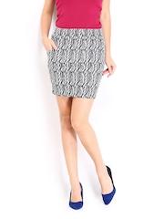 Vero Moda Black & Grey Mini Skirt