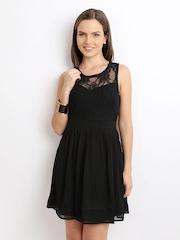 Vero Moda Black Lace Fit & Flare Dress