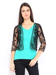 Vero Moda Black Lace Shrug