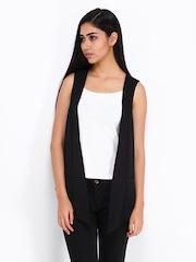 Vero Moda Women Black Waistcoat