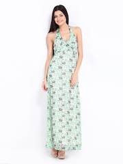 Vero Moda Green & White Printed Klorina Maxi Dress